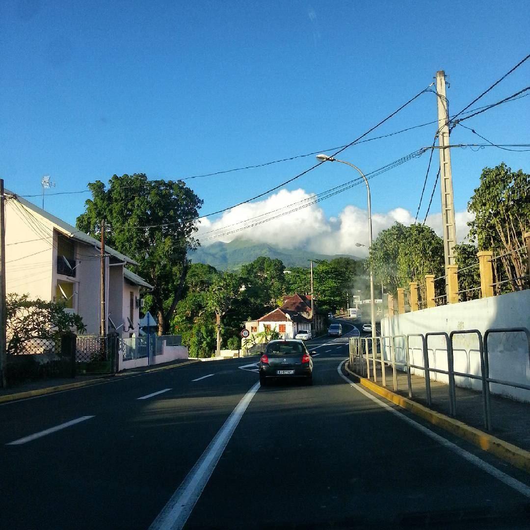 Magnifique vue de la soufrière de Guadeloupe