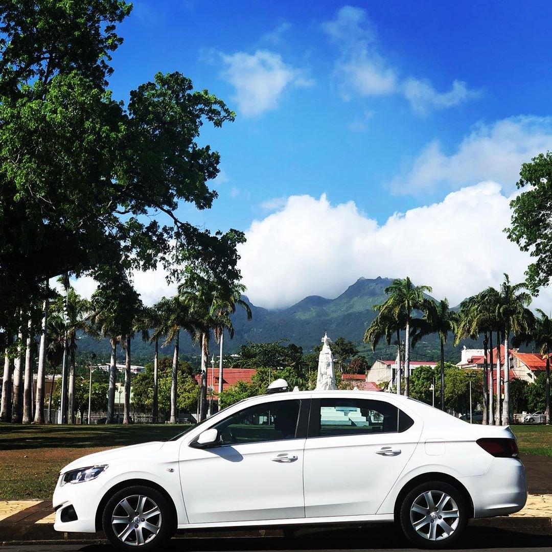 Vu au bas de la soufrière de Guadeloupe