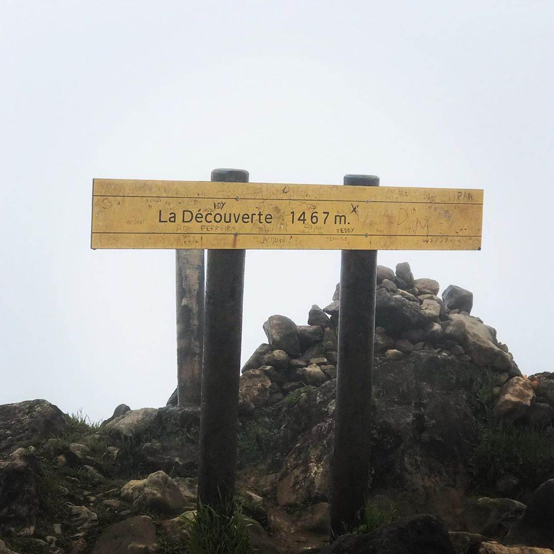 1467 m d'altitude sur la soufrière de Guadeloupe