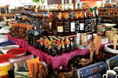 Étalage du marché aux épices de Pointe-à-Pitre