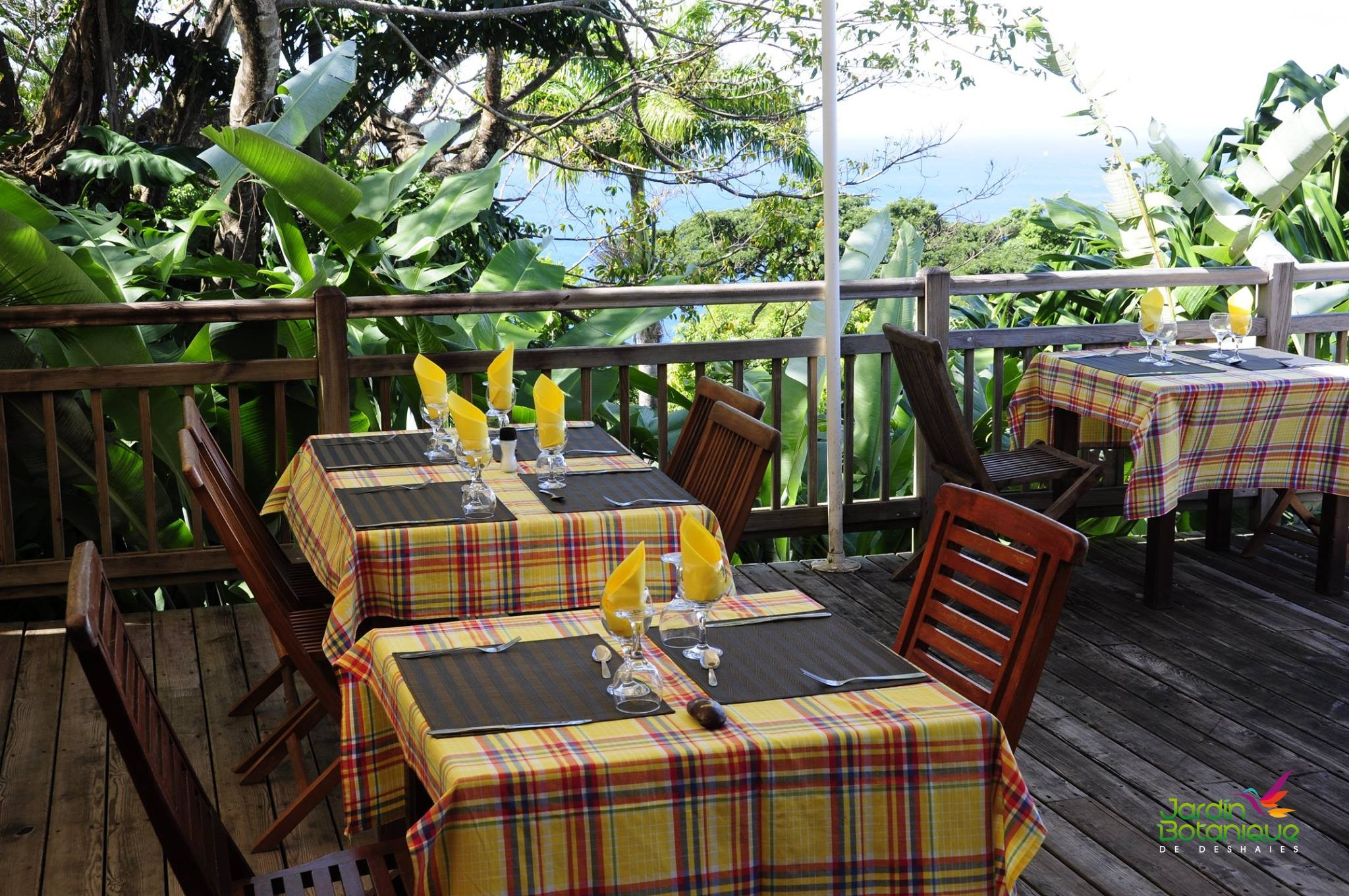 Restaurant panoramique du jardin botanique de Deshaies