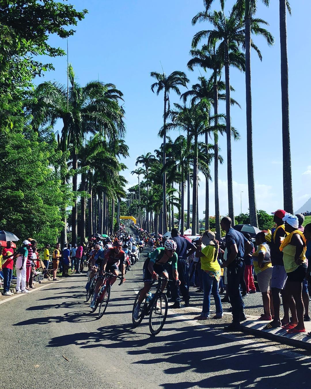 Tour cycliste de Guadeloupe allée du manoir